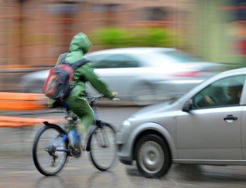 Aanrijding auto met fietser